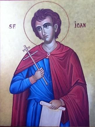 Sfantul Ioan - ulei/lemn