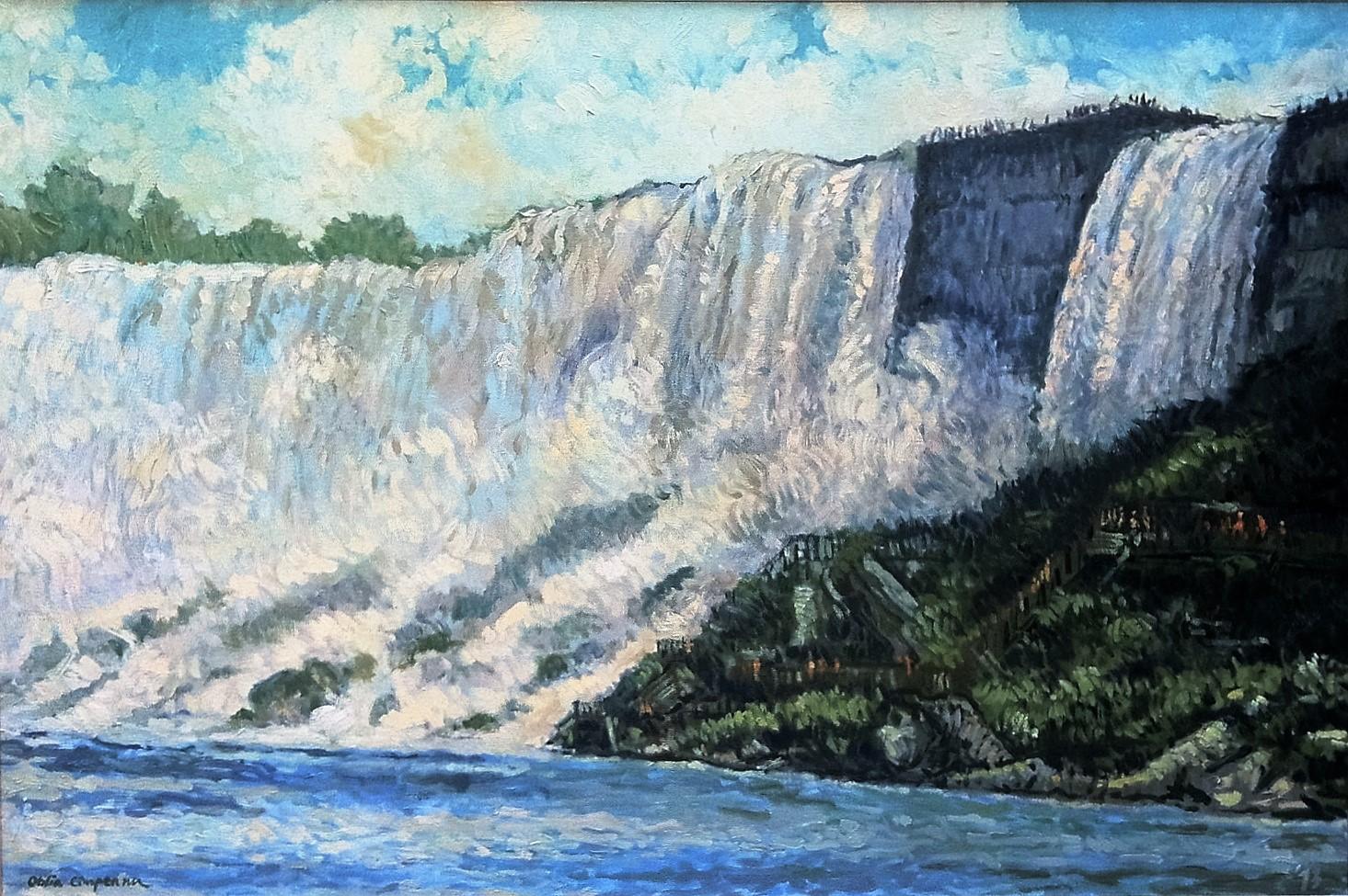 Cascada Niagara - ulei/panza