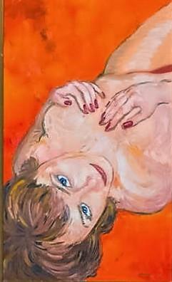Fata cu ochii albastri - ulei/panza