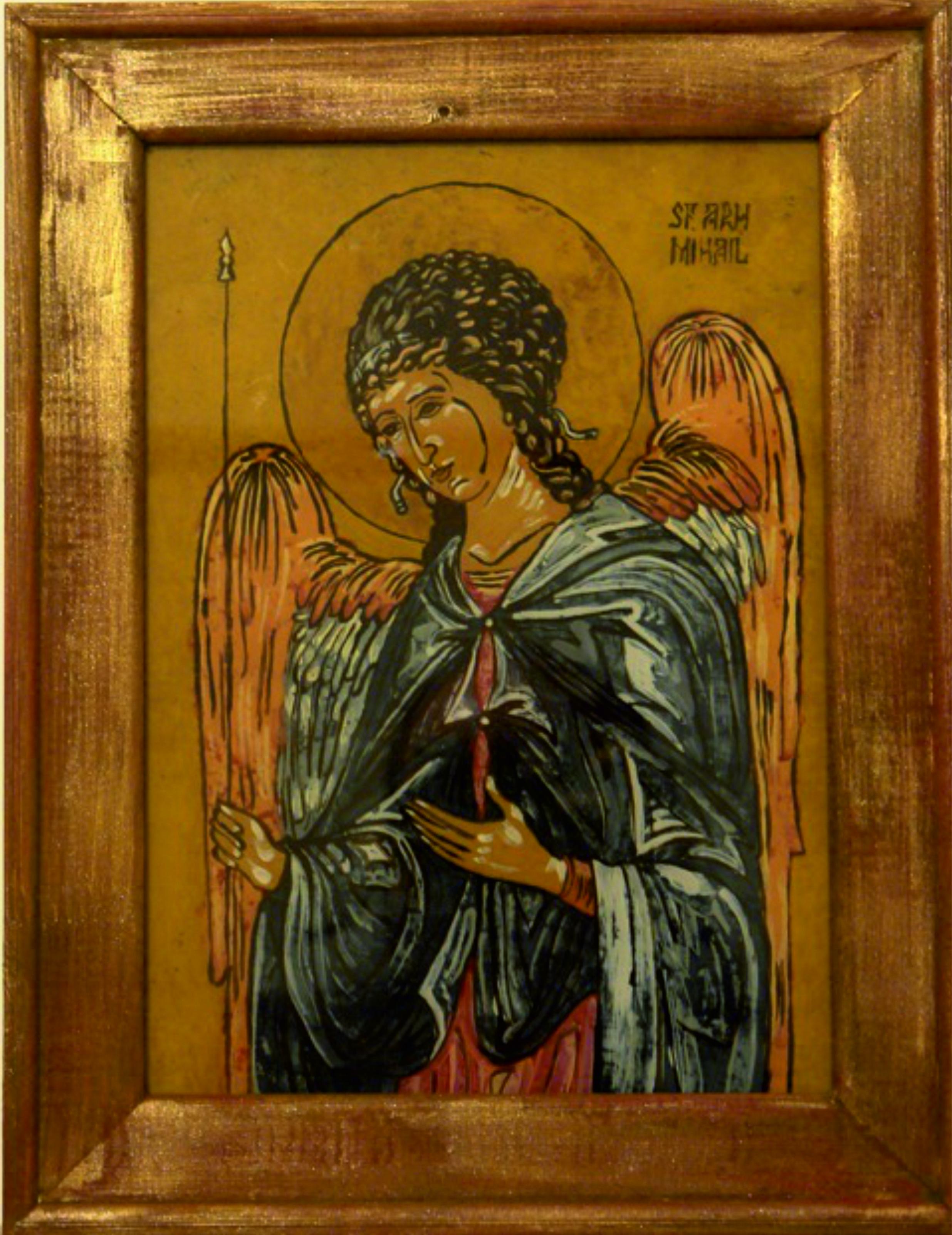 Sf. Mihail - tempera emulsie de ou/sticla